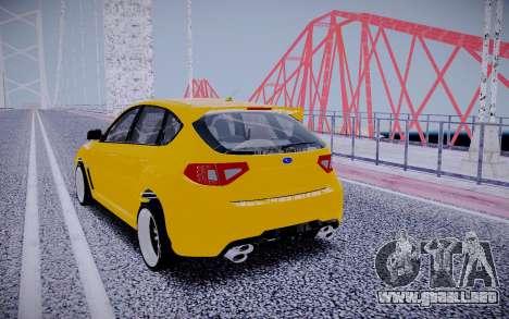 Subaru Impreza StanceWorks para GTA San Andreas vista posterior izquierda