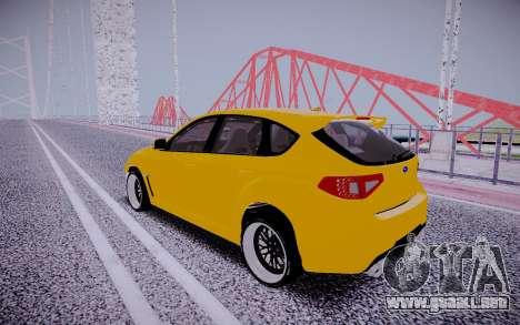 Subaru Impreza StanceWorks para la visión correcta GTA San Andreas