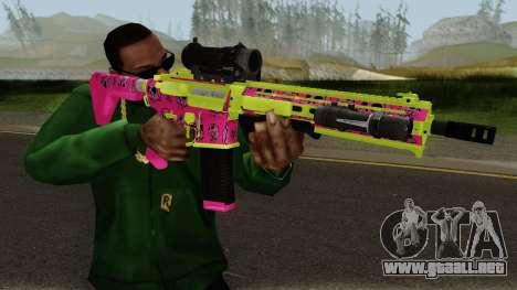 GTA Online Gunrunning Carbine Rifle MK.II Pink para GTA San Andreas tercera pantalla