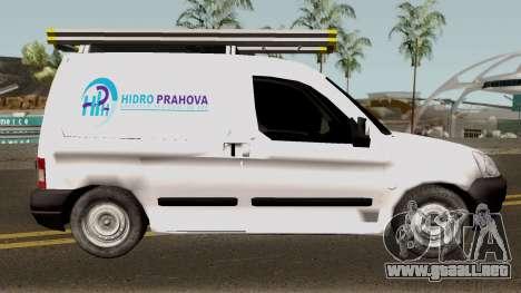 Citroen Berlingo HidroPrahova Edition para GTA San Andreas vista hacia atrás