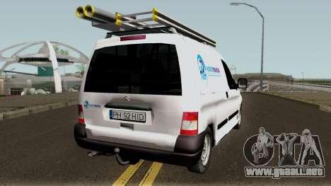 Citroen Berlingo HidroPrahova Edition para la visión correcta GTA San Andreas