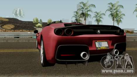 Ferrari J50 para GTA San Andreas vista posterior izquierda