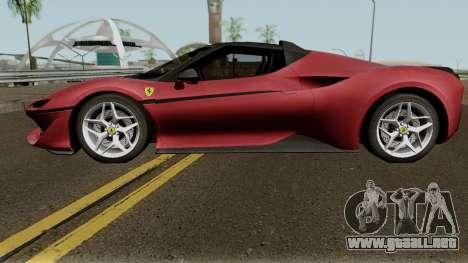 Ferrari J50 para GTA San Andreas left