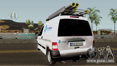 Citroen Berlingo HidroPrahova Edition para GTA San Andreas vista posterior izquierda