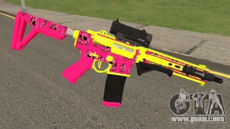 GTA Online Gunrunning Carbine Rifle MK.II Pink para GTA San Andreas segunda pantalla