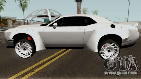 Dodge Challenger SRT Hellcat Rocket Bunny 2015 para GTA San Andreas left