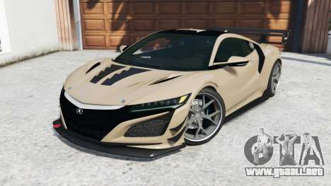 GTA 5 Acura NSX 2017 [replace] vista lateral derecha