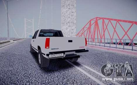 GMS Sierra para GTA San Andreas vista hacia atrás