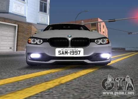 BWM F30 335i Stance para visión interna GTA San Andreas