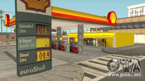 Shell Gas Station Updated para GTA San Andreas segunda pantalla