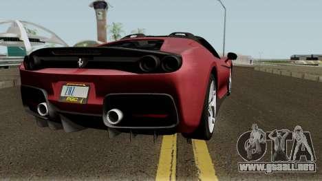 Ferrari J50 para la visión correcta GTA San Andreas