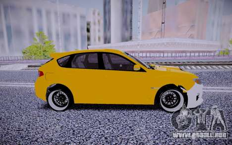 Subaru Impreza StanceWorks para GTA San Andreas left