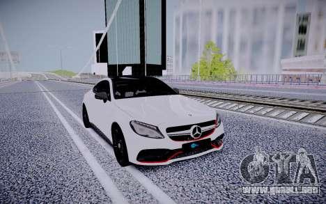 Mercedes-Benz C63 para la visión correcta GTA San Andreas