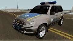 Chevrolet Niva GLC 2009 Ukraine Police Gray para GTA San Andreas