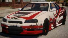 Nissan Skyline GT-R R34 PJ3 para GTA 4