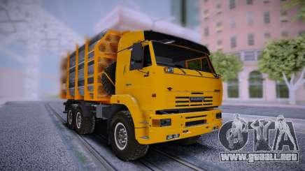 KAMAZ 6460 Camión con tubos de para GTA San Andreas