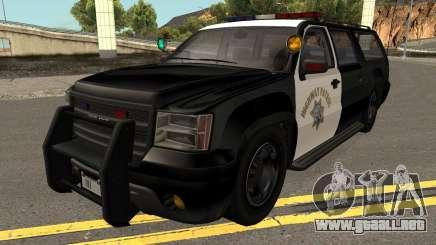 Declasse Granger SAHP Police GTA V para GTA San Andreas