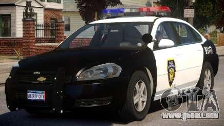 2012 Chevrolet Impala Police para GTA 4