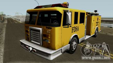 Firetruck Paintable in the Two of the Colours para GTA San Andreas