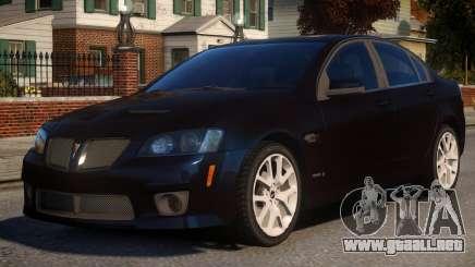 Pontiac G8 GXP V2 para GTA 4