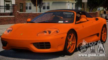 2000 Ferrari 360 Spider V1.2 para GTA 4