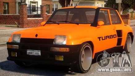 Renault 5 Turbo V2 para GTA 4