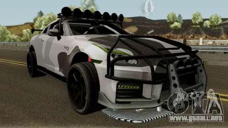 Nissan GT-R Tuning & OffRoad para visión interna GTA San Andreas