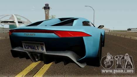 Rezvani Beast Alpha para la visión correcta GTA San Andreas