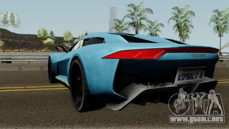 Rezvani Beast Alpha para GTA San Andreas vista posterior izquierda