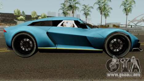 Rezvani Beast Alpha para GTA San Andreas vista hacia atrás