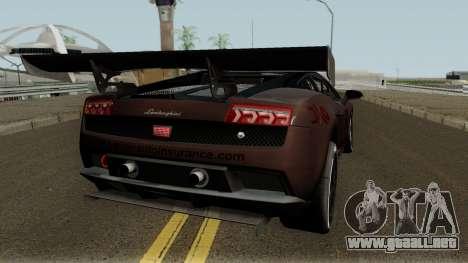 Lamborghini Gallardo LP 560-4 GT3 2012 para GTA San Andreas