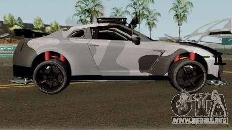 Nissan GT-R Tuning & OffRoad para GTA San Andreas vista hacia atrás