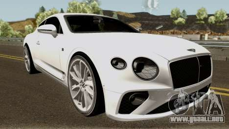 Bentley Continental GT First Edition 2018 para visión interna GTA San Andreas