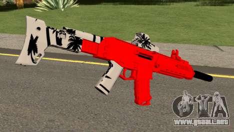M4 De Trolencio911 Roja para GTA San Andreas segunda pantalla