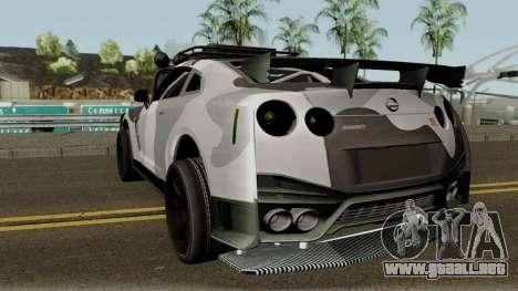 Nissan GT-R Tuning & OffRoad para GTA San Andreas vista posterior izquierda