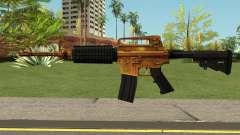 Golden M4A1 HQ para GTA San Andreas