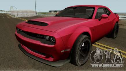 Dodge Challenger SRT Demon 2018 para GTA San Andreas