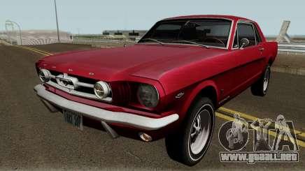 Ford Mustang GT289 Counting Cars v1.0 1965 para GTA San Andreas