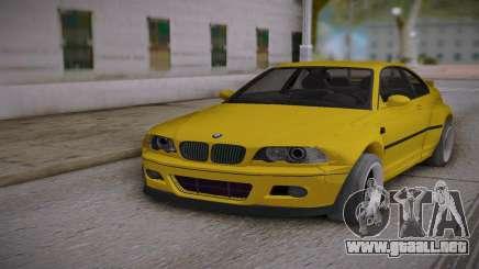 BMW E46 Yellow para GTA San Andreas