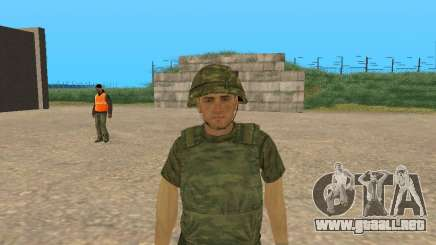 Un combatiente de las fuerzas armadas en el camuflaje de la Figura para GTA San Andreas