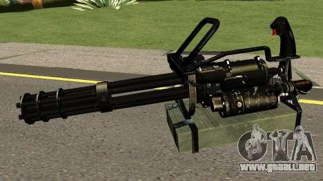 Minigun HQ (With HD Original Icon) para GTA San Andreas