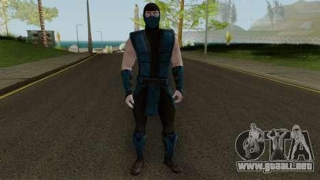 Klassic Sub-Zero MKXM para GTA San Andreas segunda pantalla