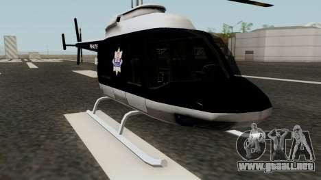 Helikopter Polskiej Policji para GTA San Andreas