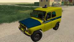 UAZ 469 de la Policía para GTA San Andreas