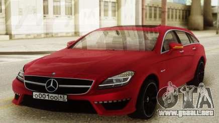 Mercedes-Benz CLS63 AMG Red para GTA San Andreas