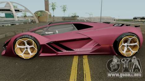 Lamborghini Terzo Millennio 2017 para GTA San Andreas left