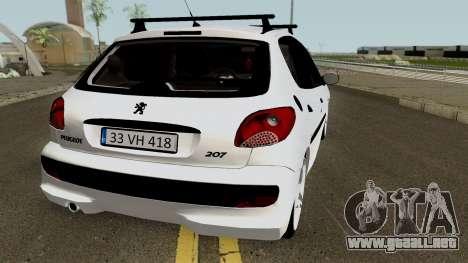 Peugeot 206 2012 para la visión correcta GTA San Andreas