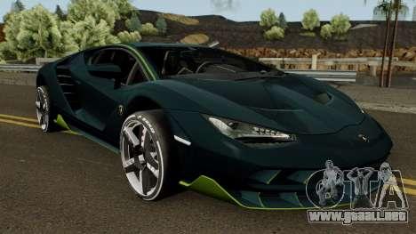 Lamborghini Centenario LP770-4 2017 para visión interna GTA San Andreas