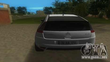 2010 Citroen C4 VTS para GTA Vice City