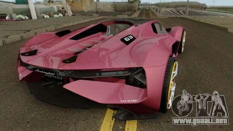 Lamborghini Terzo Millennio 2017 para la visión correcta GTA San Andreas